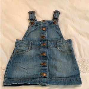 Denim skirt overall